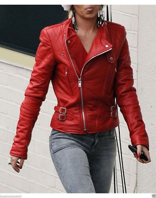 Red Women S Moto Lambskin Real Leather Jacket Motorcycle Slim Fit Bike Dynamic Leather Leather jacket lambskin, leather we offer a wide choice of materials. dynamic leather