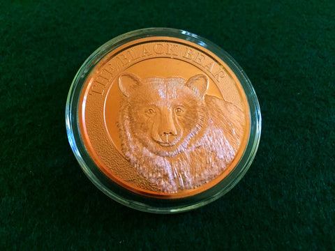 Black Bear Copper Coin