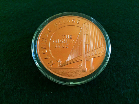 Mackinaw Bridge Copper Coin