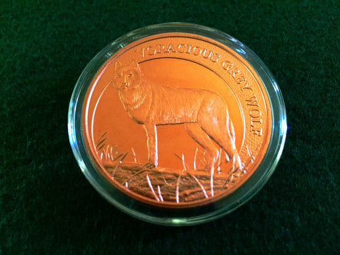 Voracious Grey Wolf Copper Coin