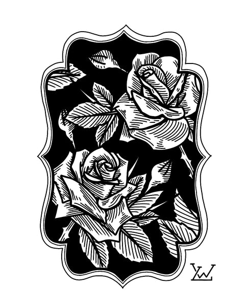 DOUBLE ROSE PRINT #1