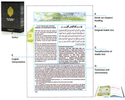 LARGE HARDBOUND  The Meaning of The Holy Quran  Arabic Text