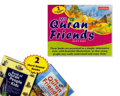 MY QURAN FRIENDS GIFT BOX. 2 Hardbound Books. Ages 8 and Up.