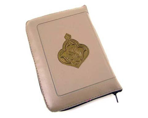 LARGE, POCKET SIZE QURAN IN A ZIPPED, LEATHER LIKE, SOFT COVER. SIZE 3.5 X 5 INCHES.