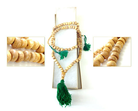 WOOD TASBIH - Medium Size 6 mm  Prayer Beads. Sandalwood Scented.
