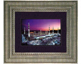 The Prophet`s Mosque at Medina.  Faux Canvas. Overall Size 19 x 16 inches