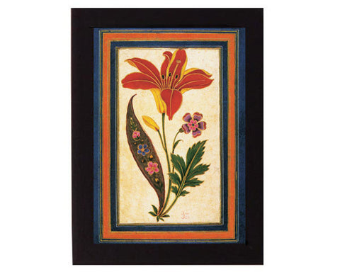 Fantasy Flowers. Safavid Iran. Overall frame size 6 x 8 inches.