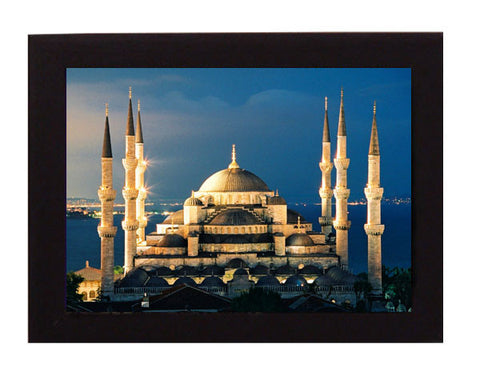 Blue Mosque, Istanbul,Turkey. Overall frame size 6 x 8 inches.