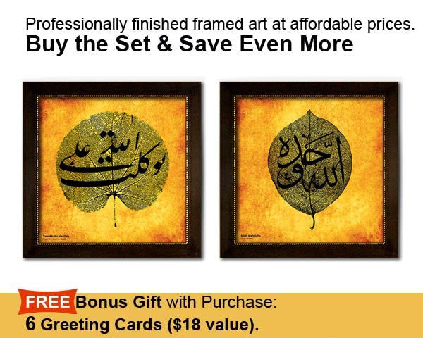 Buy the Set & Save.  TWO Faux Canvas Frames. Overall frame size 17 x 17 inches.