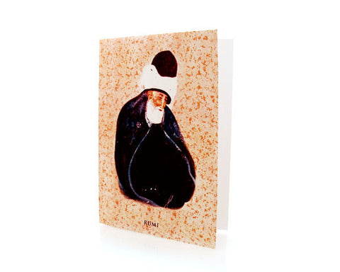 REPRODUCTION OF POTRAIT OF MEWLANA RUMI. Box of TEN INTERFAITH Cards.