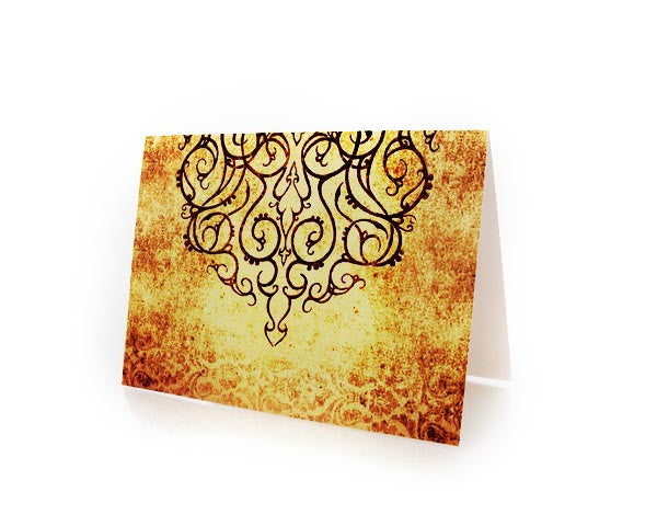 BLANK GREETING CARD. BOX OF 10.