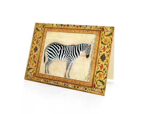 Study of an AFRICAN ZEBRA.  BLANK GREETING CARD. Printed on Extra Heavy Paper Stock.