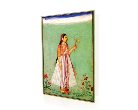 Potrait Of A Mughal Court Lady.  BLANK GREETING CARD. Printed on Extra Heavy Paper Stock.