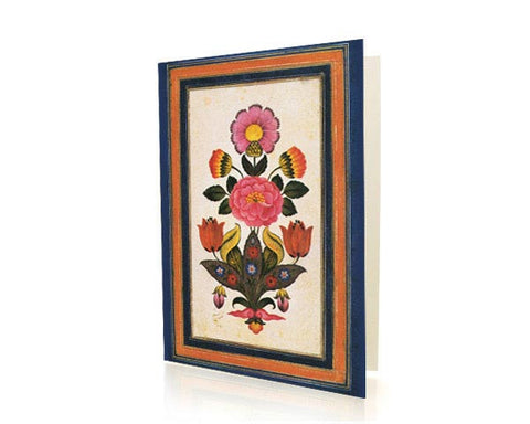 Bouquet Of Fantasy Flowers.  BLANK GREETING CARD. Printed on Extra Heavy Paper Stock.