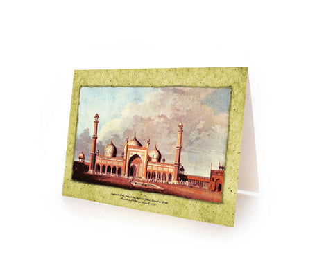 Museum Art Card: Juma Masjid, Delhi  Box Of TEN MUSEUM MASTERPIECES Cards With Matching Envelops.