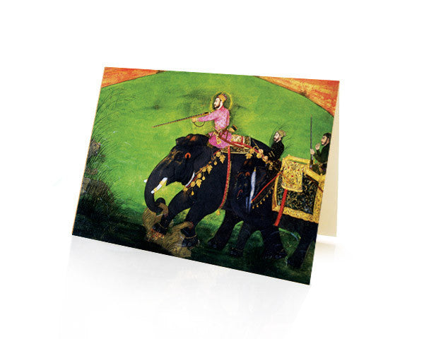 Lion hunt. BLANK GREETING CARD. BOX OF 10.