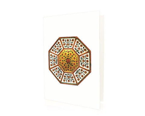 Tray for an octagonal box. BLANK GREETING CARD. BOX OF 10.