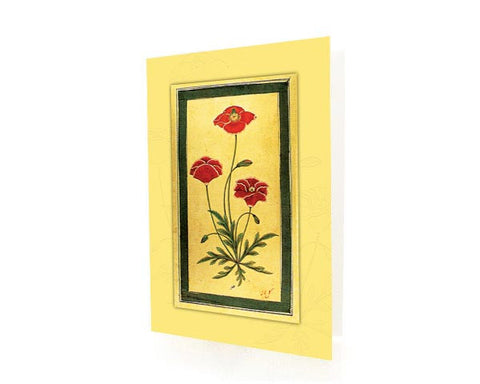 Study Of A Poppy Plant.  Box of 10 Greeting Cards with envelops.