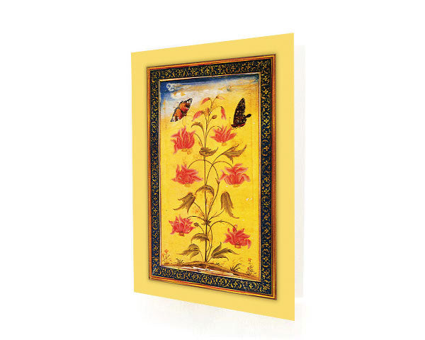 Two Butterflies Alight On An Exotic Plant. Box of 10 OCCASION Cards with Matching Envelops.