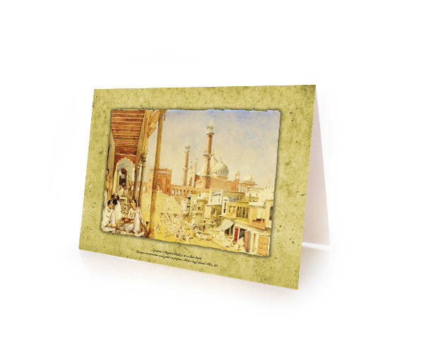 BOX OF 10 EID MUBARAK GREETING CARDS.  SPECIAL Metallic Paper with an Iridescent Pearl finish.