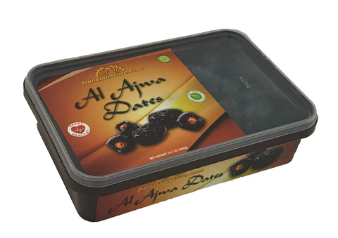100% Authentic. 400gm Pack. Contains about 50 AJWA DATES. Mentioned in the Hadith AJWA DATES were the Prophets (pbuh) favorite dates. Harvested 2019