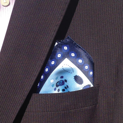 Bluebird Pocket Square
