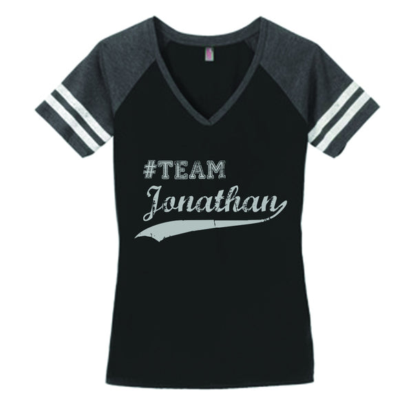 Team Jonathan Sibling Rivalry V-Neck Shirt