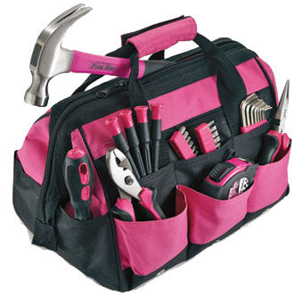 Pink Tools Set For Home Or Auto