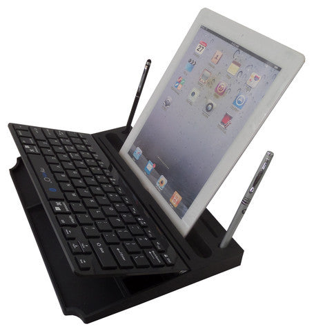 6 in 1 Stand Organizer Bluetooth Keyboard Black On Black - Pinkoz