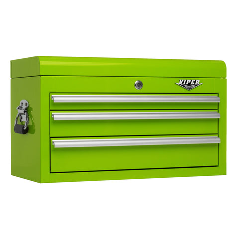 Viper Lime Green Tool Box 3 Drawer - Pinkoz