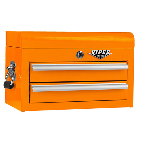 Viper Orange Tool Box 2 Drawer