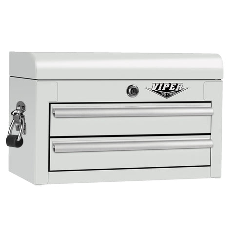 Viper White Tool Box 2 Drawer - Pinkoz