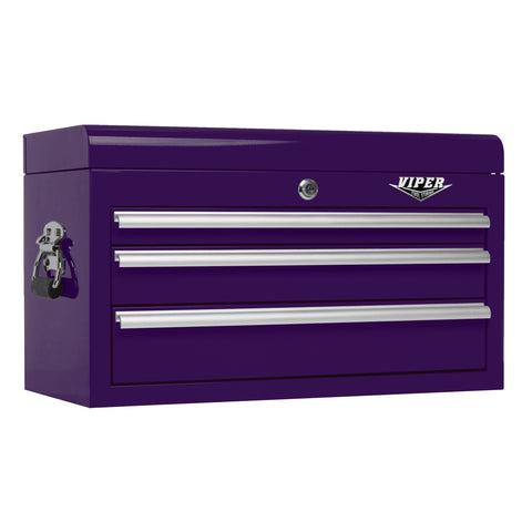 Viper Purple Tool Box 3 Drawer - Pinkoz