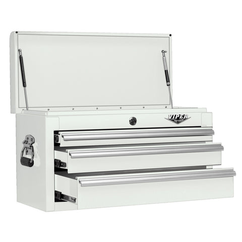 Viper White Tool Box 3 Drawer - Pinkoz