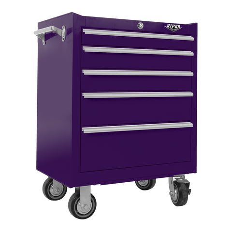 Viper Purple 26-Inch 5 Drawer Tool Cabinet - Pinkoz
