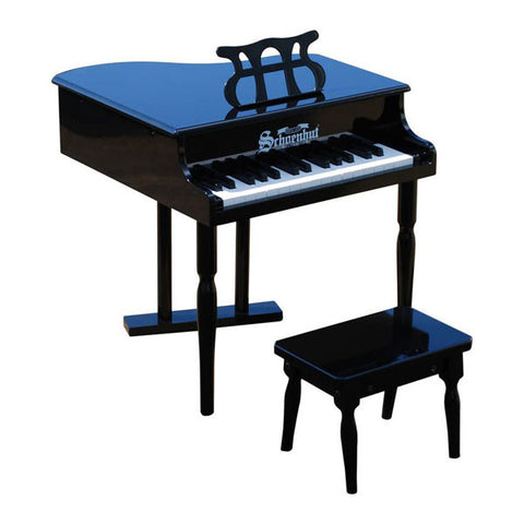 Black Classic Baby Grand Piano - Pinkoz