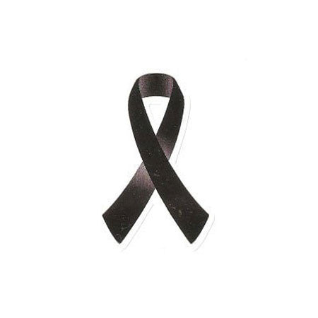 Black Ribbon Stickers 50 Pack - Pinkoz