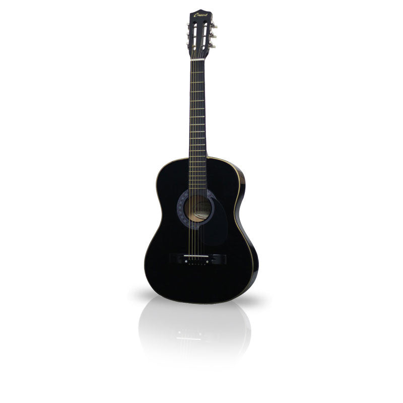 Black Beginner Guitar Acoustic 38in - Pinkoz