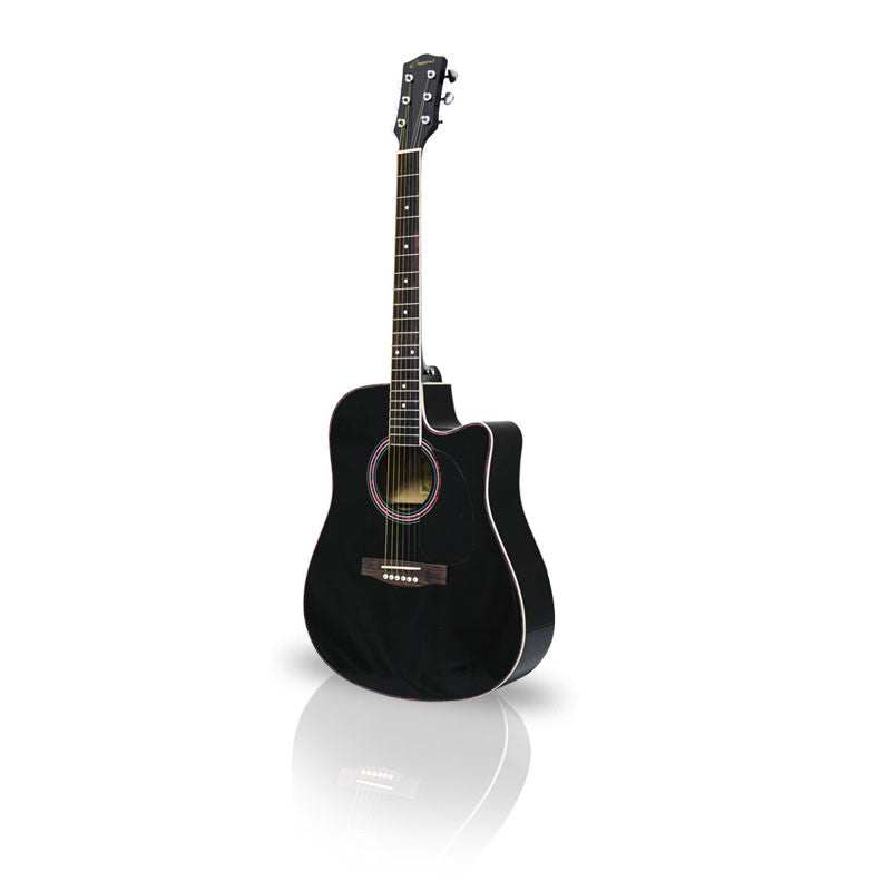 Black Guitar Acoustic 41in Dreadnought - Pinkoz