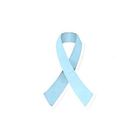 Light Blue Ribbon Stickers 50 Pack