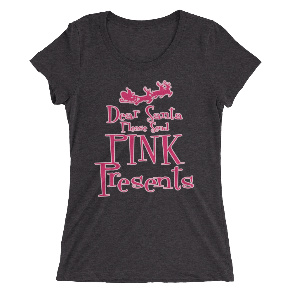 """Dear Santa"" Ladies' Short Sleeve T-Shirt - Pinkoz"