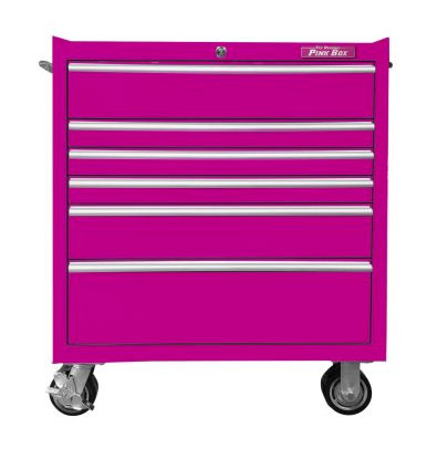 The Original Pink Box 6 Drawer Rolling Cabinet - Pinkoz