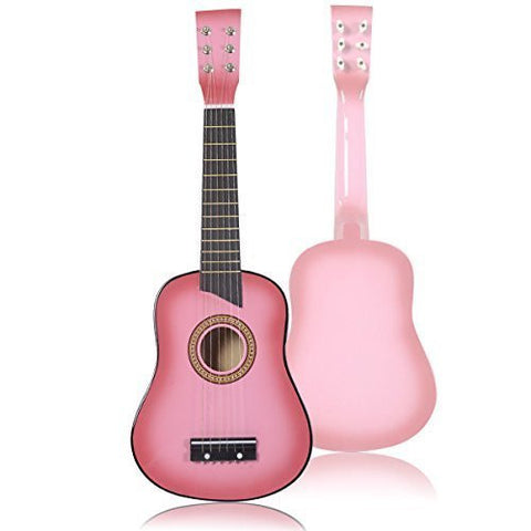 Pink Acoustic Guitar 25in Toddler Guitar