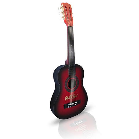 Schoenhut Acoustic Guitar Red Black - Pinkoz