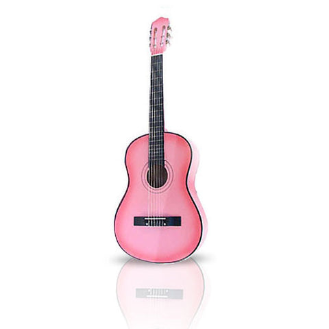 Pink Premium Acoustic Guitar 38in