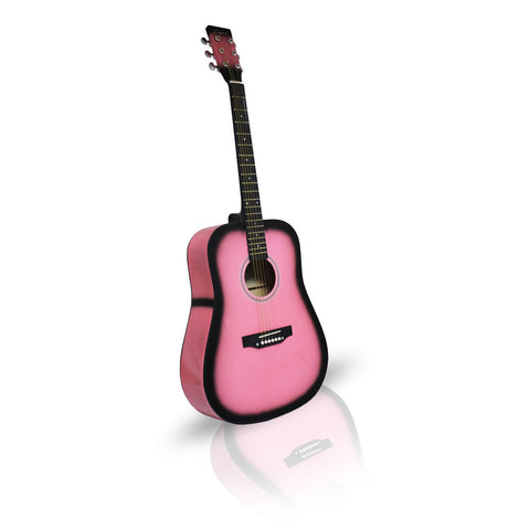 Pink Guitar Acoustic 41in Sunburst Dreadnought