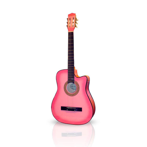 Pink Beginner Acoustic Cutaway Guitar