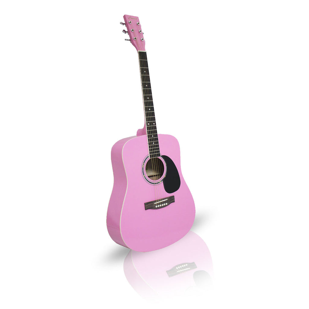 Pink Guitar Acoustic 41in Dreadnought