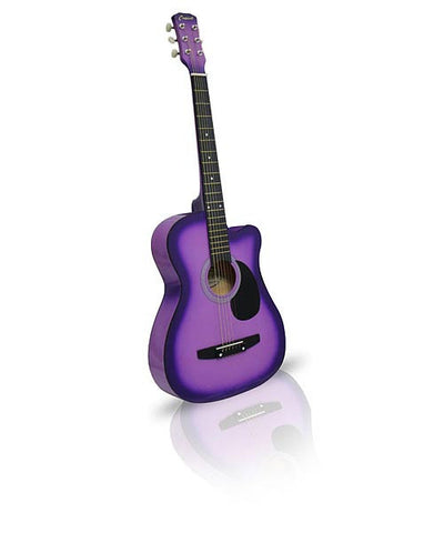 Purple Acoustic Guitar 38in Cutaway