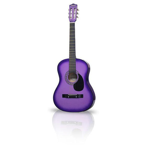 Purple Acoustic Guitar 38in